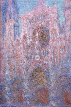 Rouen Cathedral, Symphony in Grey and Rose - Claude Monet
