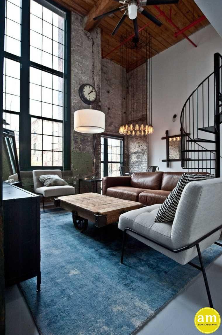 Wohnzimmer Ideen Industrial | Einrichtung Industrial Style Graue ...