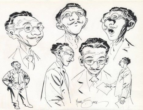"""Mike Zeck sketches based on """"The Secret Life of Walter Mitty"""" (1939) by James Thurber."""