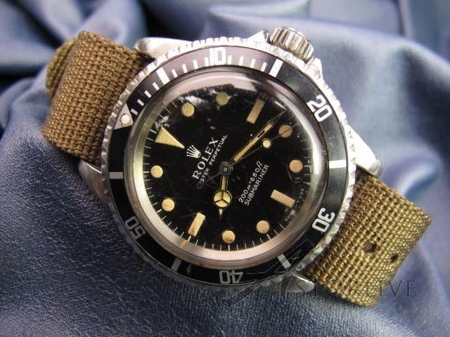 Men\u0027s Vintage 1968 Rolex Submariner No Date Ref 5513 Steel