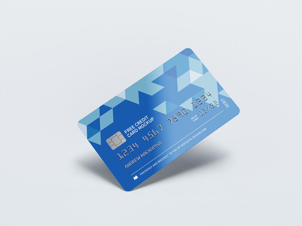 Free Credit Card Mockup Mockups Design Free Premium Mockups Free Credit Card Credit Card Design Bank Card