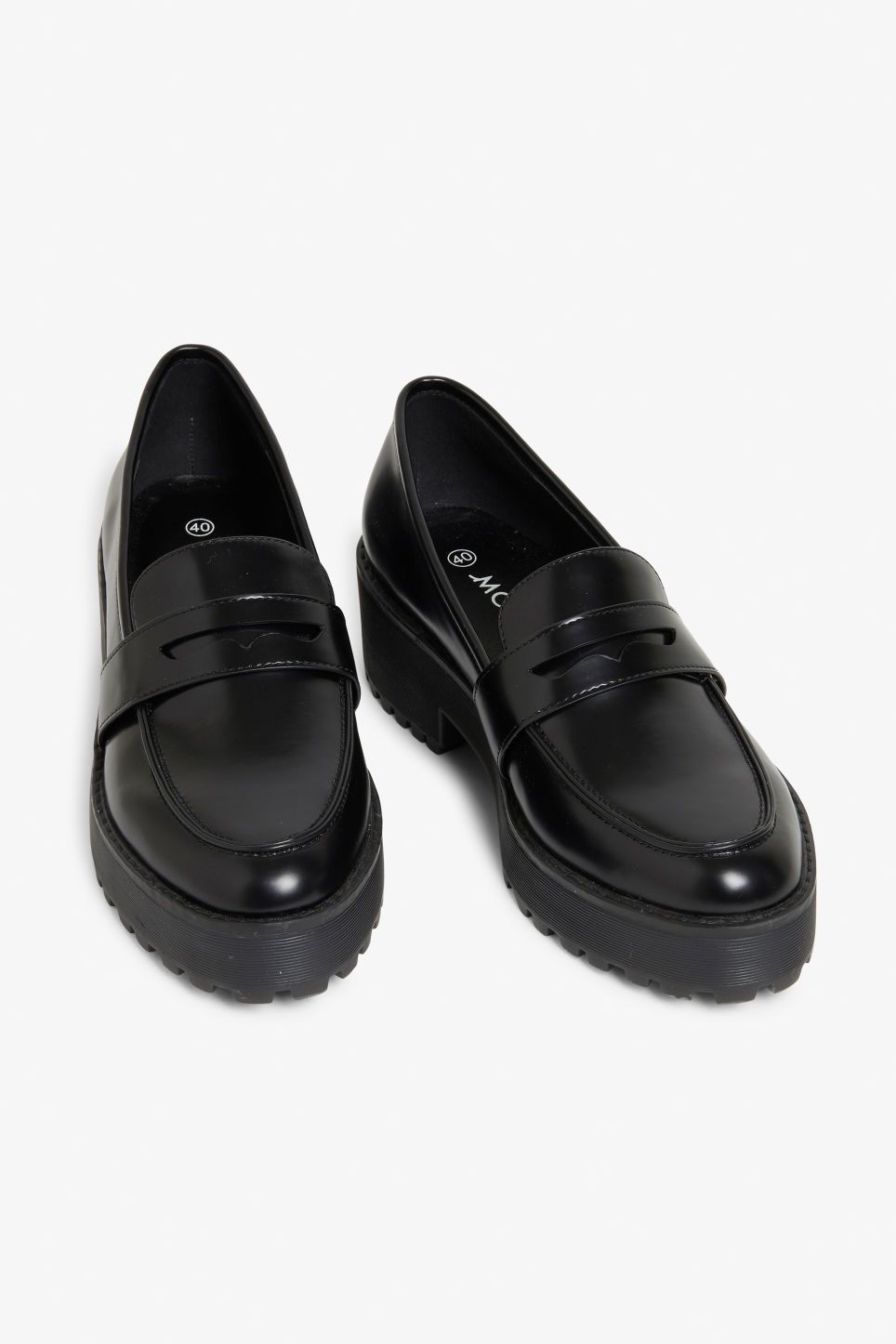 569554333f1 Let these classic black platform loafers bring you closer to heaven!  Literally. And yaas