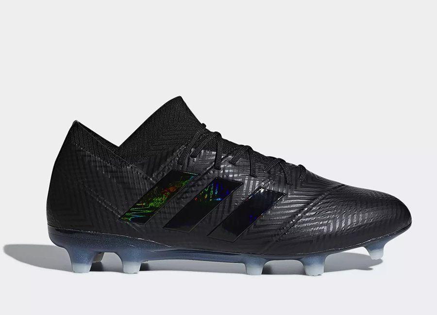 b1b263995 #football #soccer #futbol #adidasfootball #footballboots Adidas Nemeziz  18.1 FG Shadow Mode - Core Black / Core Black / Ftwr White