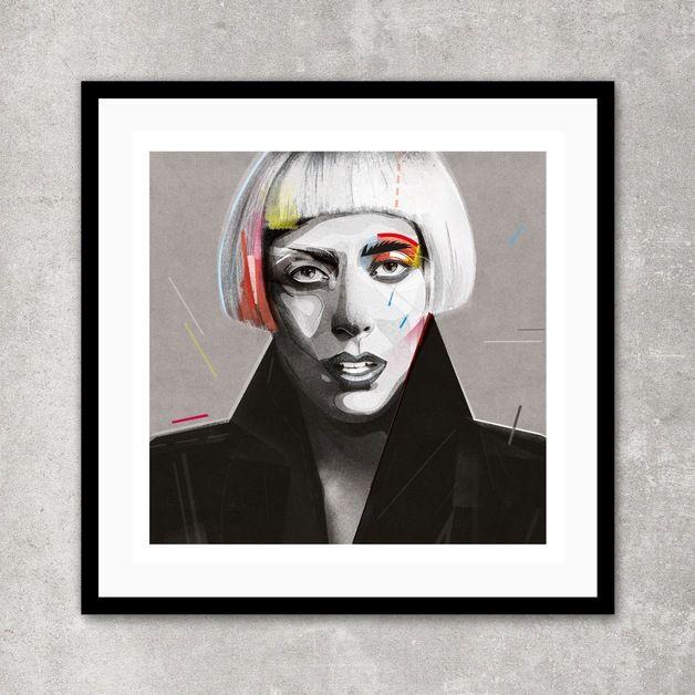 Gaga| A2 - ZanetazuzuAntosik - Wydruki cyfrowe #dawanda #dawanda_pl #art #sztuka #poster #illustration