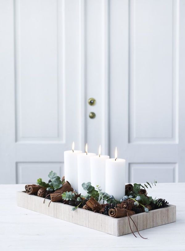 Simple, yet beautiful Christmas decorating ideas (my scandinavian home) #adventwreath