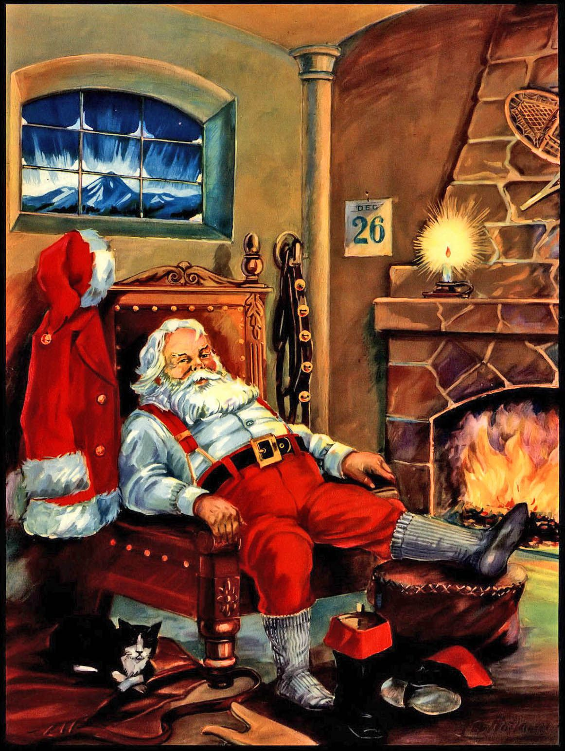 Day After Christmas.1951 The Day After Santa Claus The Day After Christmas Art