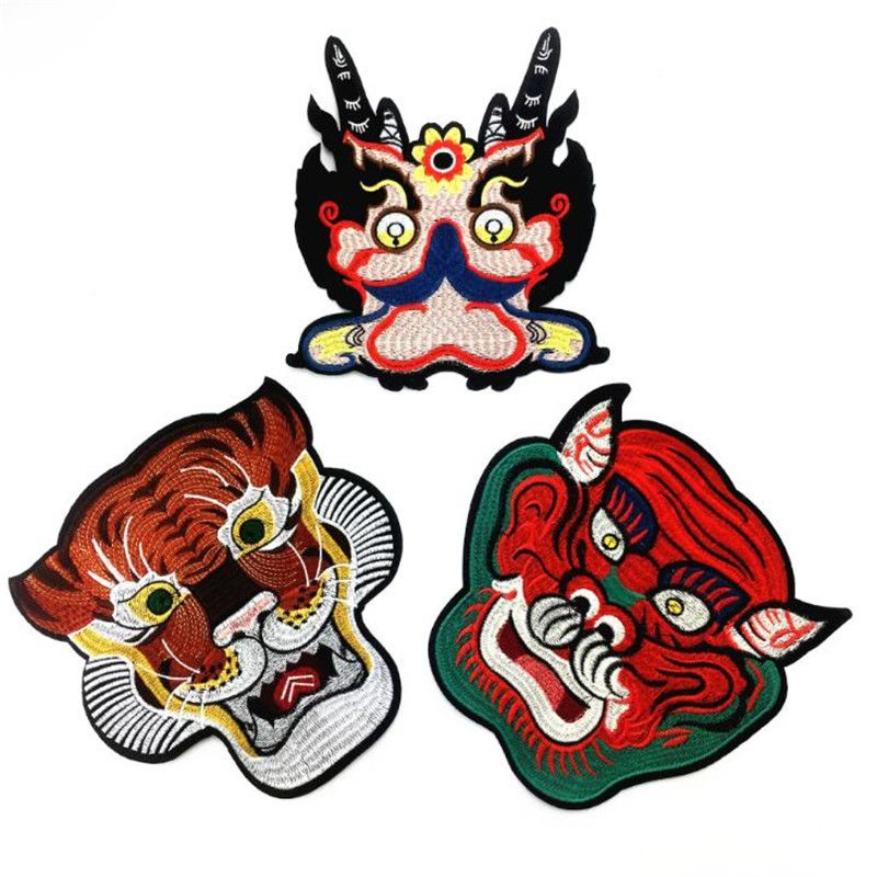 Dragon head patch Fashion Dragon patch Iron on
