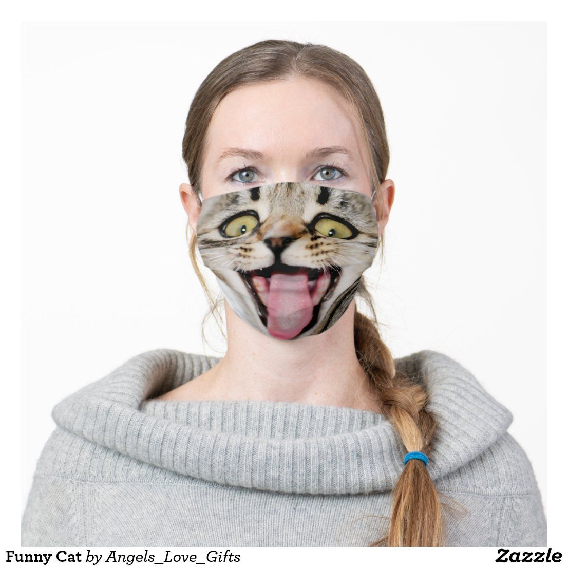 Funny Cat Cloth Face Mask in 2020 Cat face