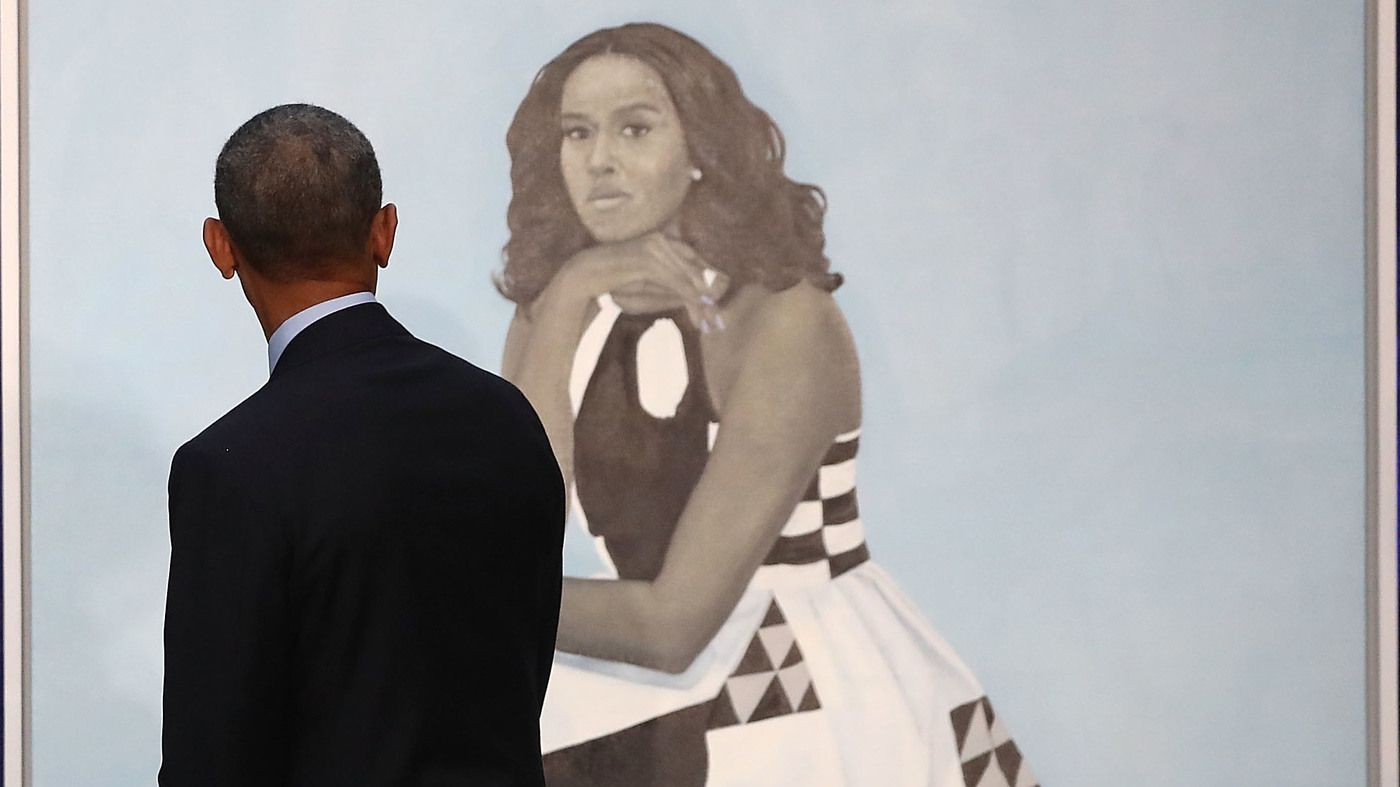 Paintings Of Barack And Michelle Obama Unveiled At