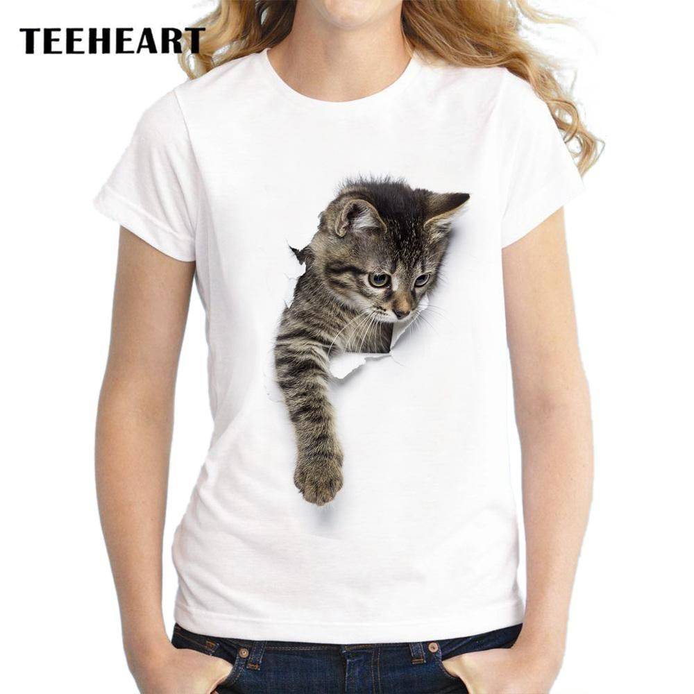cd4ae4d8 Naughty Cat Love 3D Print T Shirts | Products | Camisetas, T shirt ...
