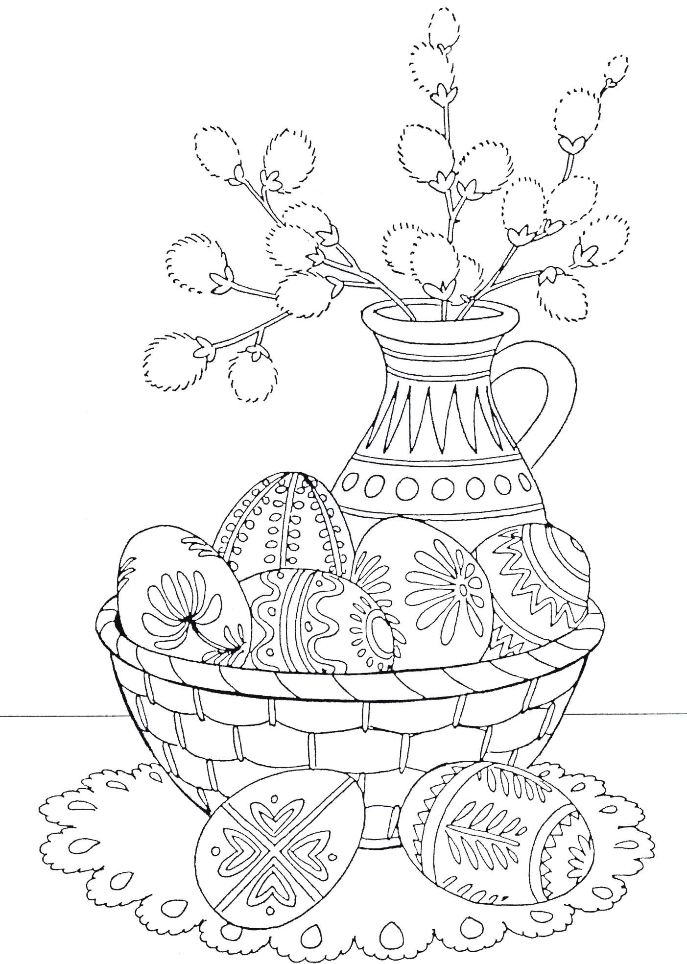spring and easter coloring pages - photo#38