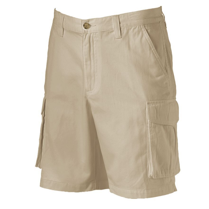 Croft & Barrow Classic Twill Cargo Shorts Mens 40 Relaxed Fit Khaki Beige #CroftBarrow #Cargo