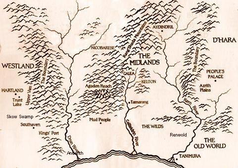 sword of truth world map Sword Of Truth Map Jpg 481 341 Sword Of Truth Fantasy Map
