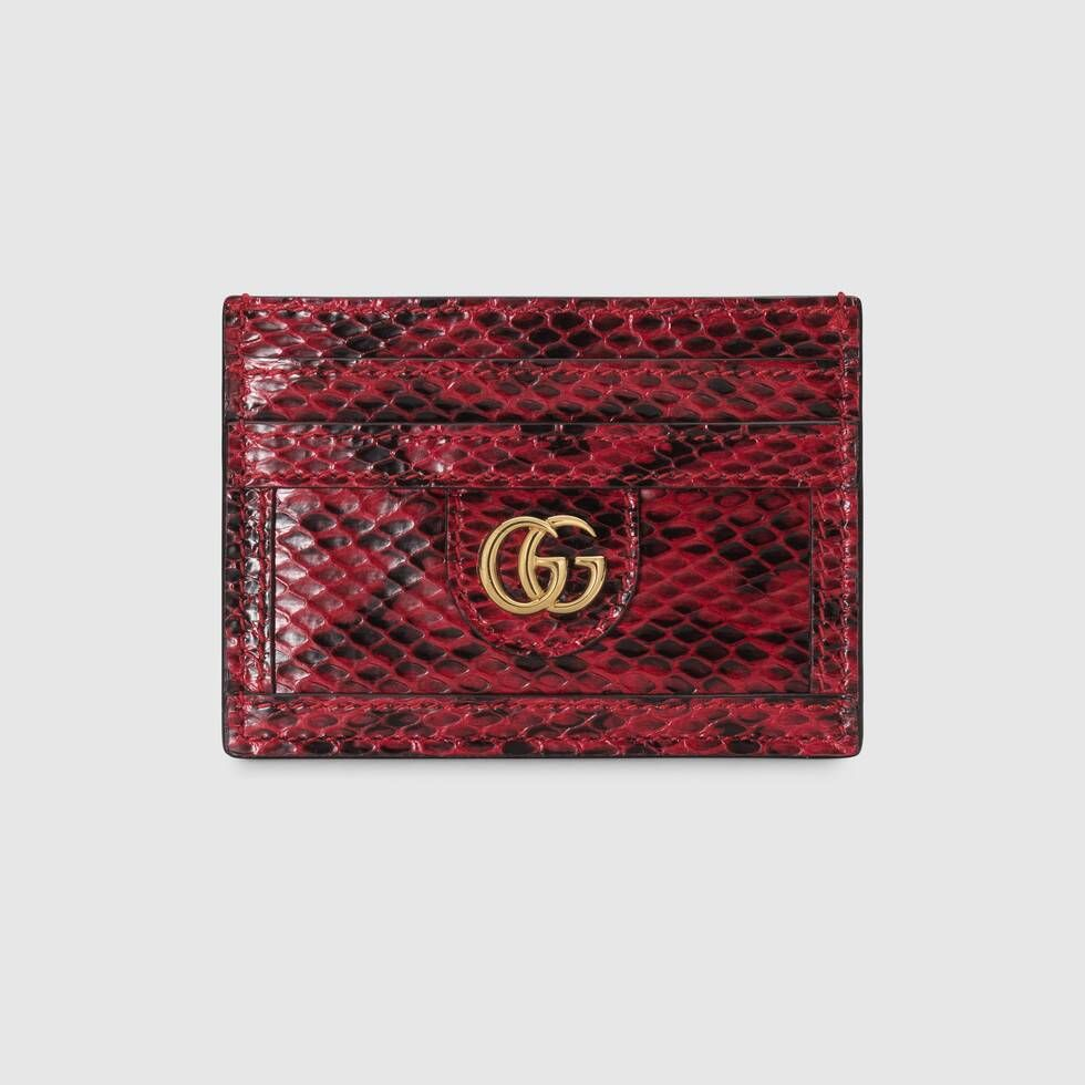 Gucci ophidia snakeskin card case with images snake