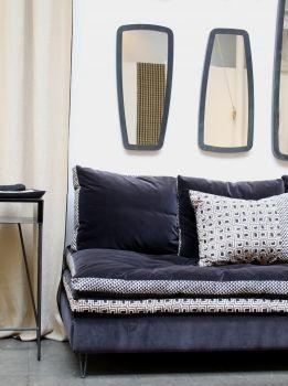 caravane leka miroir en acier brut fabric. Black Bedroom Furniture Sets. Home Design Ideas