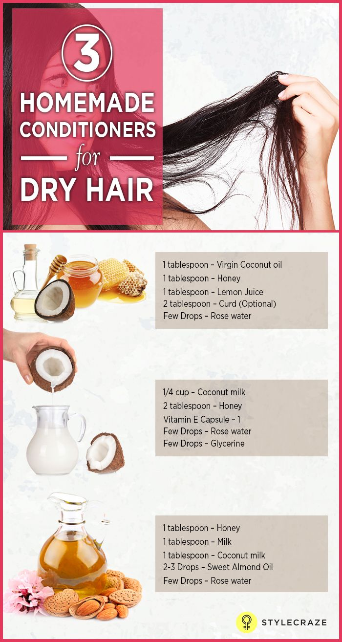8 Effective Homemade Conditioners For Dry Hair Homemade