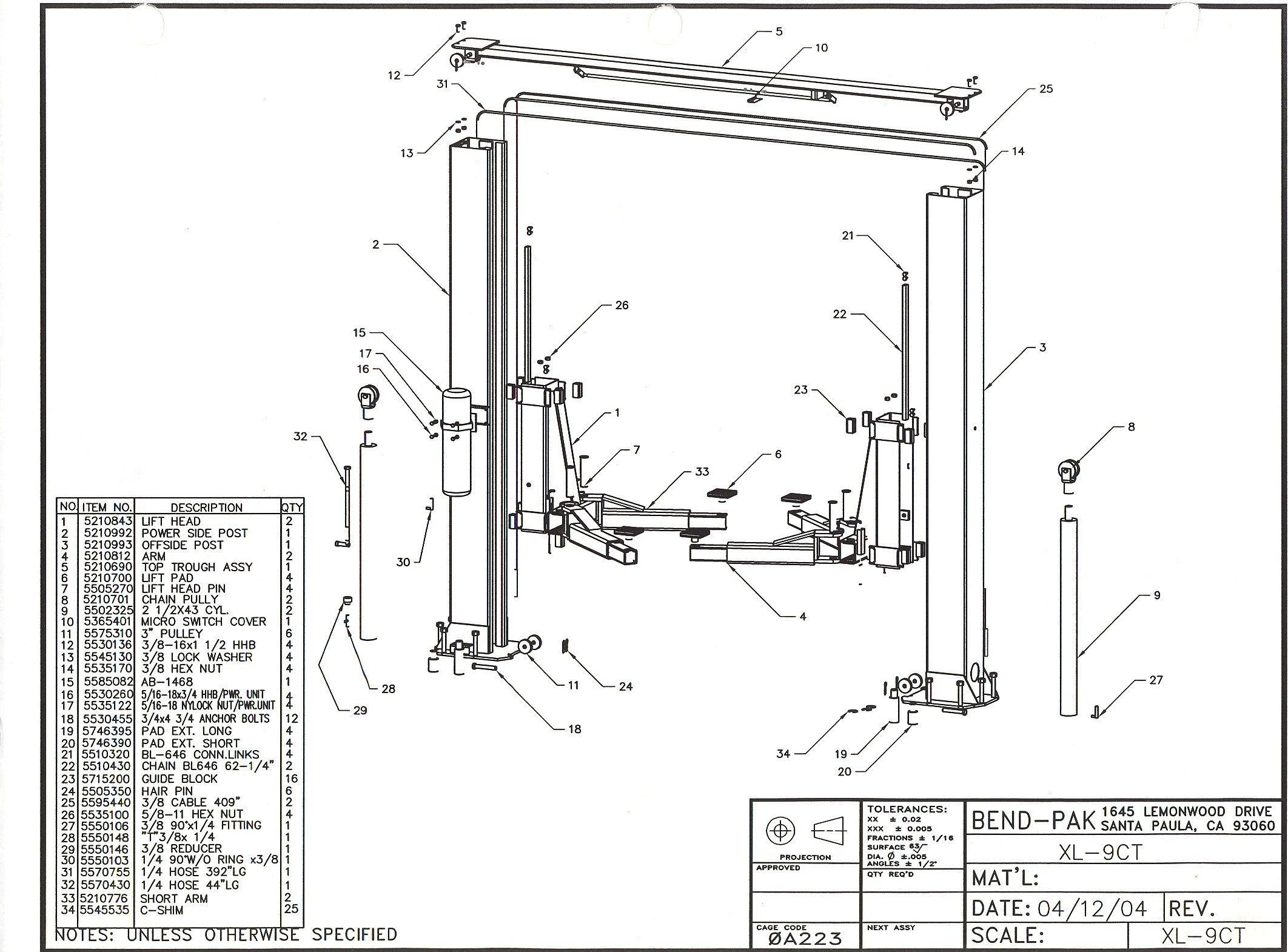 Wiring Diagram For Auto Lift Con Imagenes