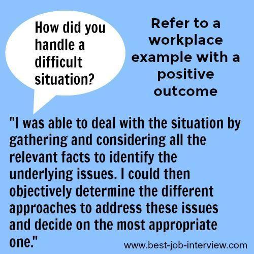 Job interview answers, Job interview tips, Job interview ...