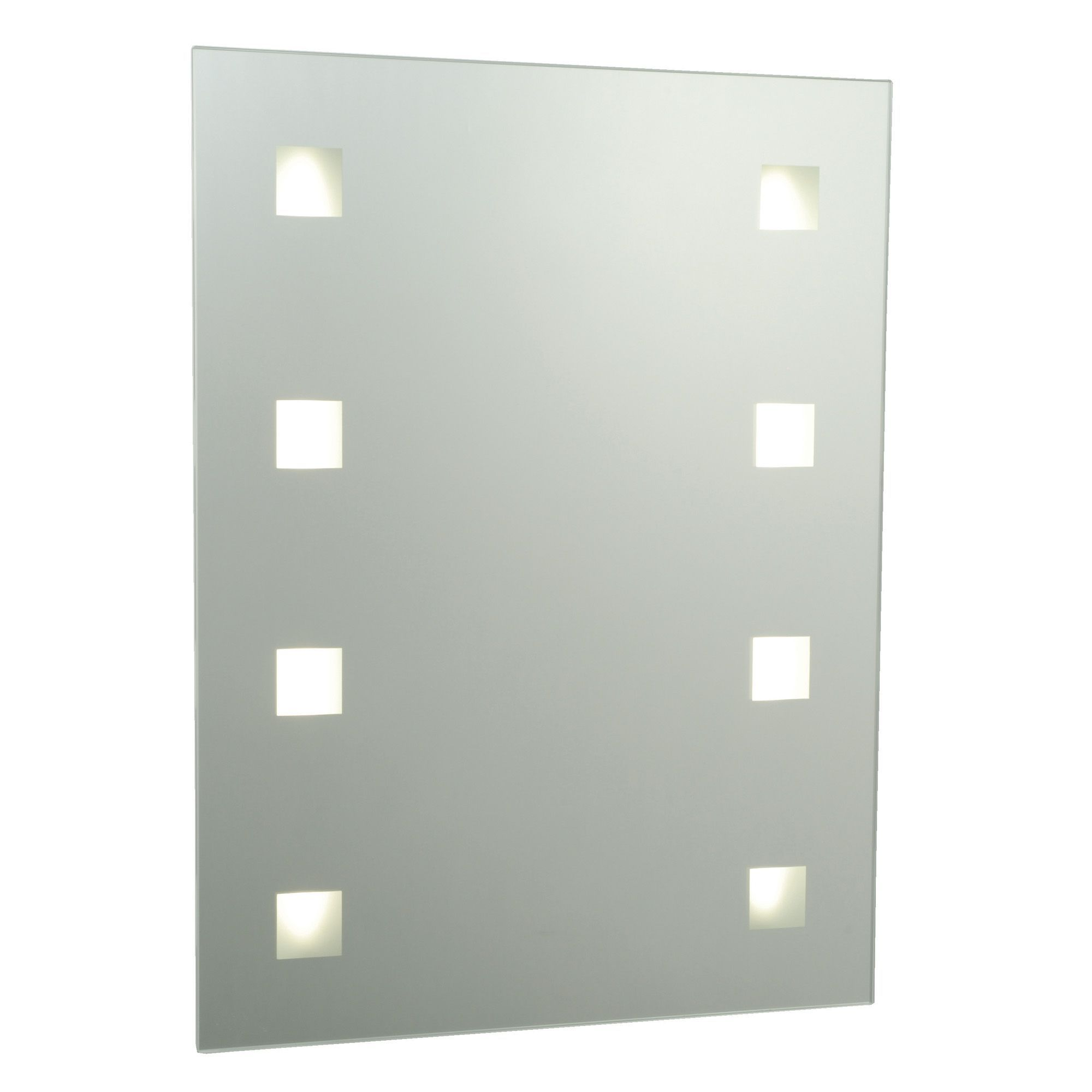 Cooke Amp Lewis Tajo Illuminated Rectangular Mirror W 450mm H 600mm Departments Diy At B Amp Q Rectangular Mirror Bathroom Mirrors Diy Mirror