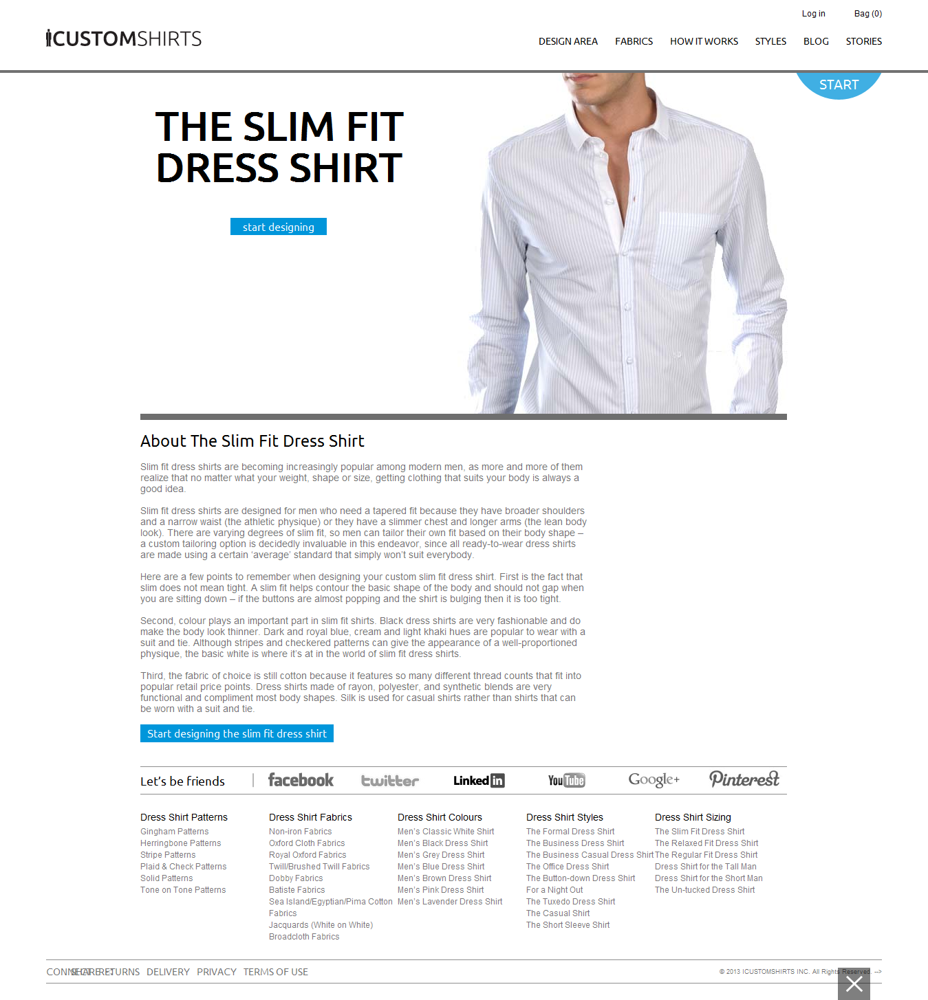 We Offer Custom Mens Slim Fit Dress Shirts Tailored To Your Body