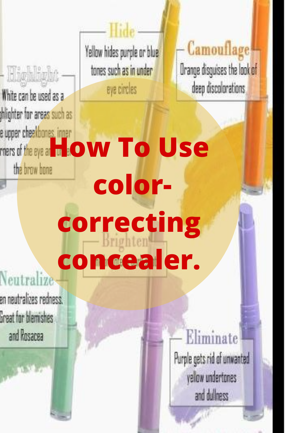 Beginner's Guide For How To Use colorcorrecting concealer