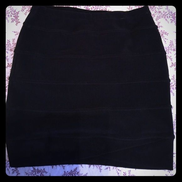 Black bandage mini vintage Bandage mini vintage skirt Herve Legere Skirts Mini