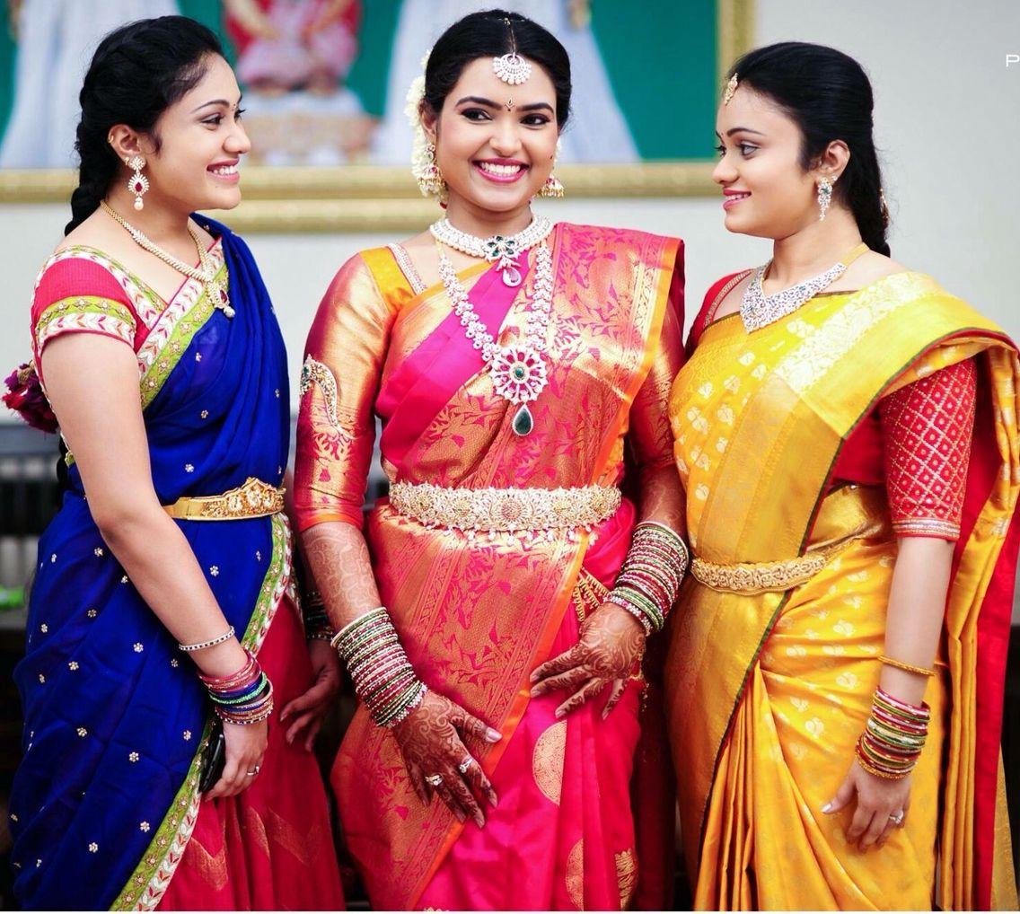 Wedding Sarees For Bride Kerala Hindu: South Indian Bride. Diamond Indian Bridal Jewelry.Temple