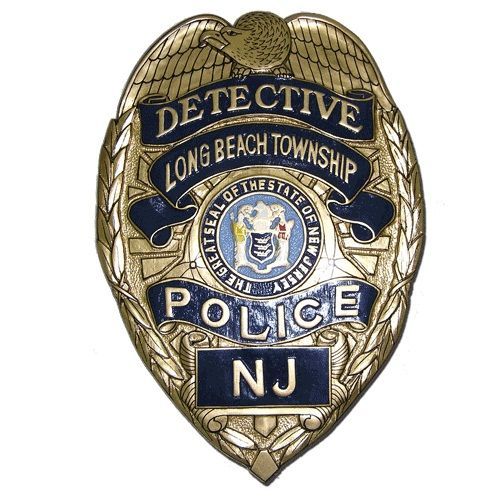 New Jersey N J Police Detectives Replica Wooden Badge Plaques Police Badge Badge Police Detective