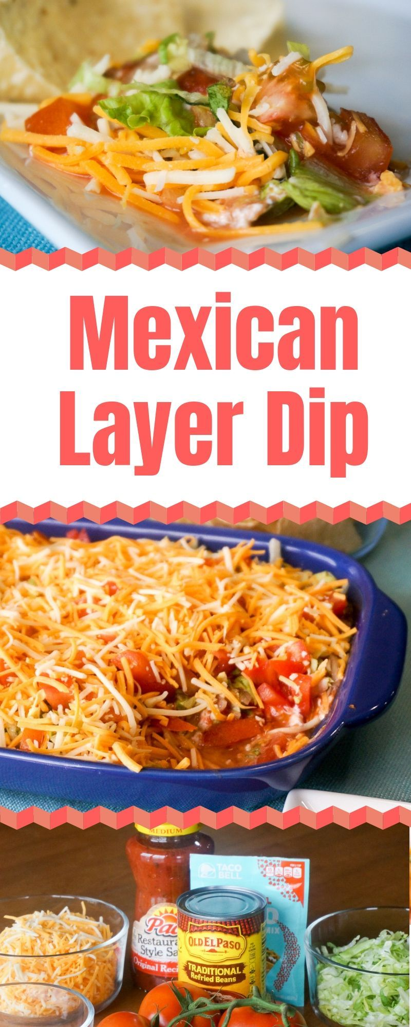 Mexican Layer Dip - A Fresh Take On 7-Layer Dip | Grace Like Rain Blog #7layerdip Mexican Layer Dip is easily customized to the ingredients you and your family like. You can add white onions, green onions, guacamole, or black olives to name a few. Spice it up by using hot salsa and/or hot taco seasoning. The sky is the limit! | Mexican 7-Layer Dip | What is in 7 Layer Dip | Mexican Layered Dip | 9 Layer Dip | Mexican Appetizer Ideas | #MexicanDip #ChipsAndDip #Appetizers #MexicanFood #MexicanRec #7layerdip