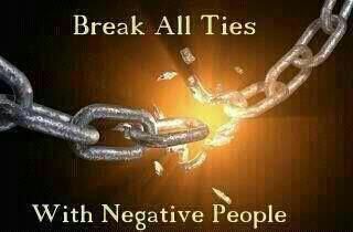 We are breaking all ties with negative people. Finally! <3