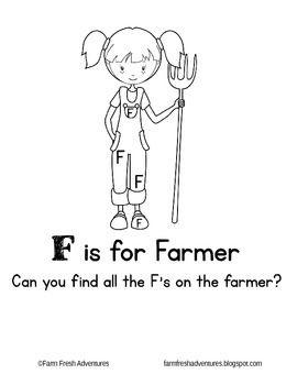 Phonics Farm F Is For Farmer Phonics Preschool Letters Farm Theme