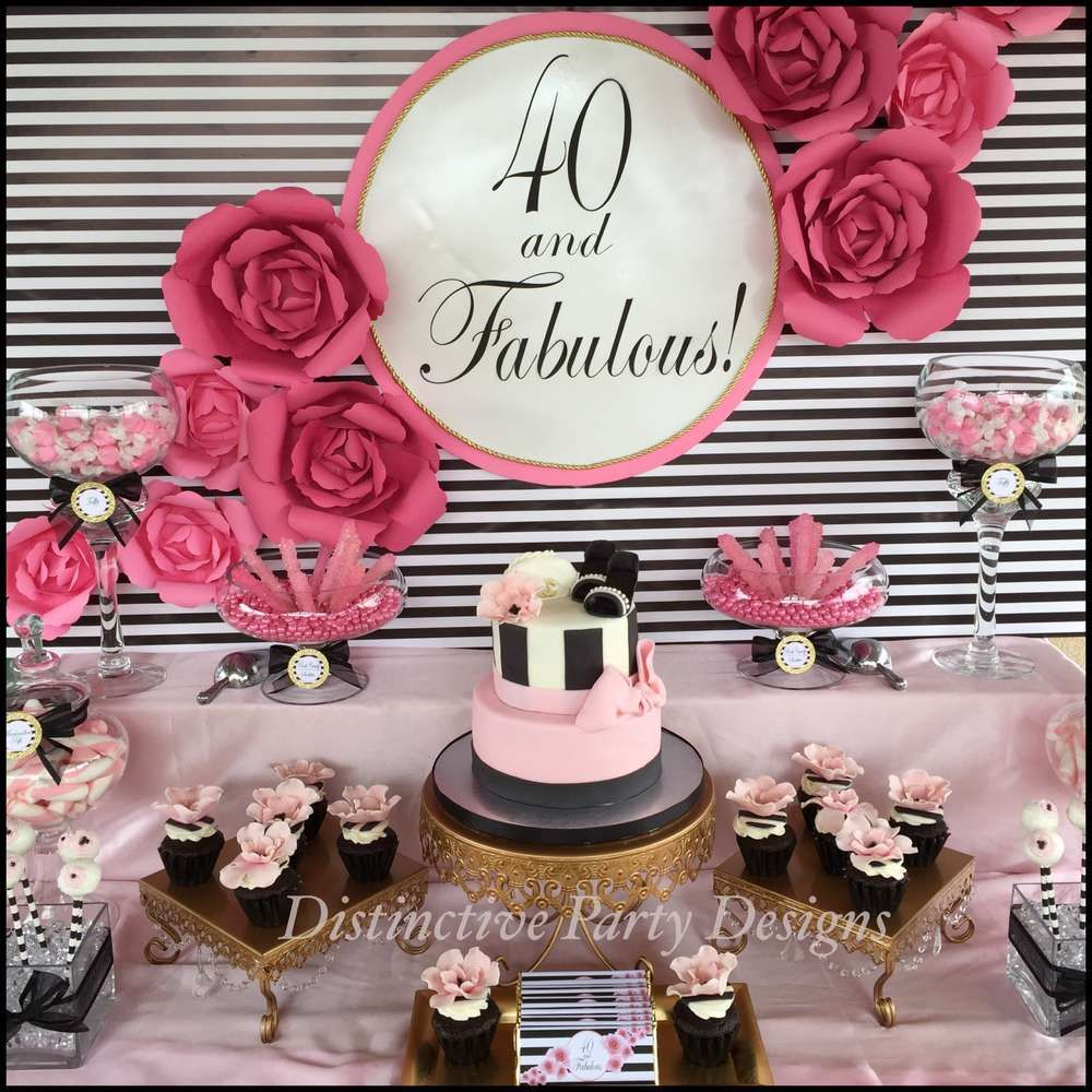 Fashion birthday party ideas 40th birthday parties 40 for 40 birthday decoration ideas