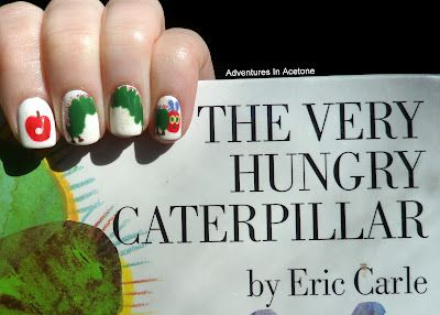 Hungry Caterpillar nails, OMG!!