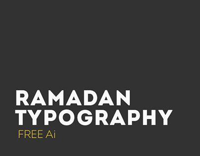 أعمال تايبوغرافي لشهر رمضان الكريمArabic Typography