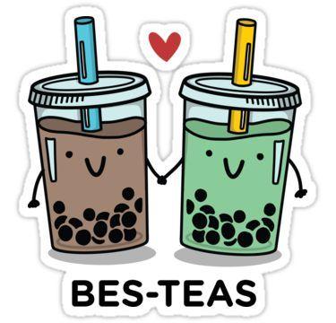 'BES-TEAS pun' Sticker by Michelle Tam