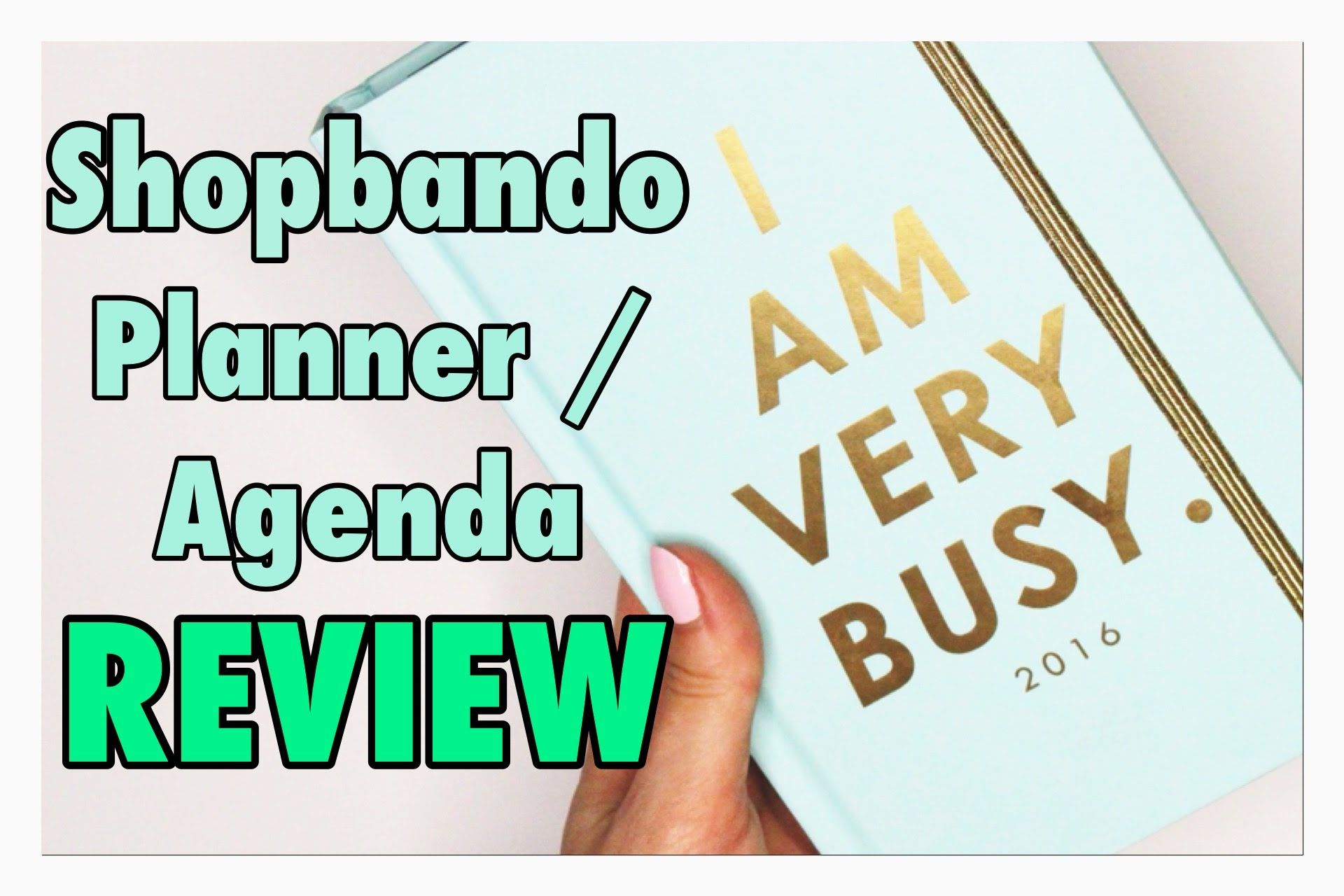 Ban.do Planner Agenda Review 2015-2016 - YouTube