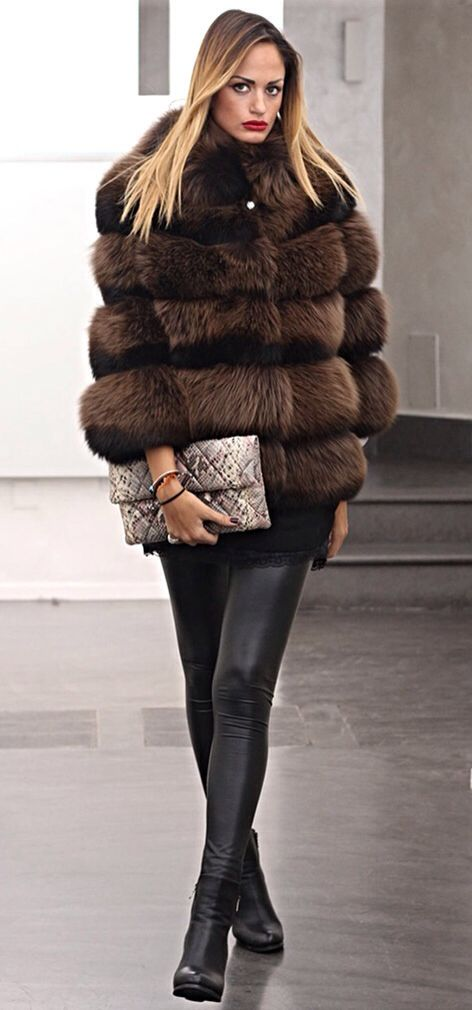 Brown Dyed Fox Fur Jacket  43e1defa6f4