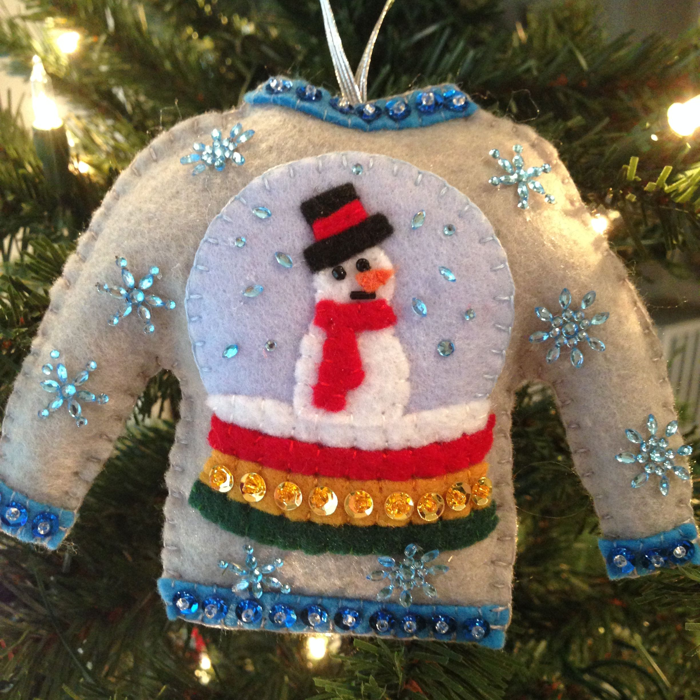 Felt Christmas Ornaments, Christmas Crafts, Family Crafts, Ugly Sweater, Holiday