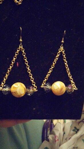 Cream Chandelier earrings