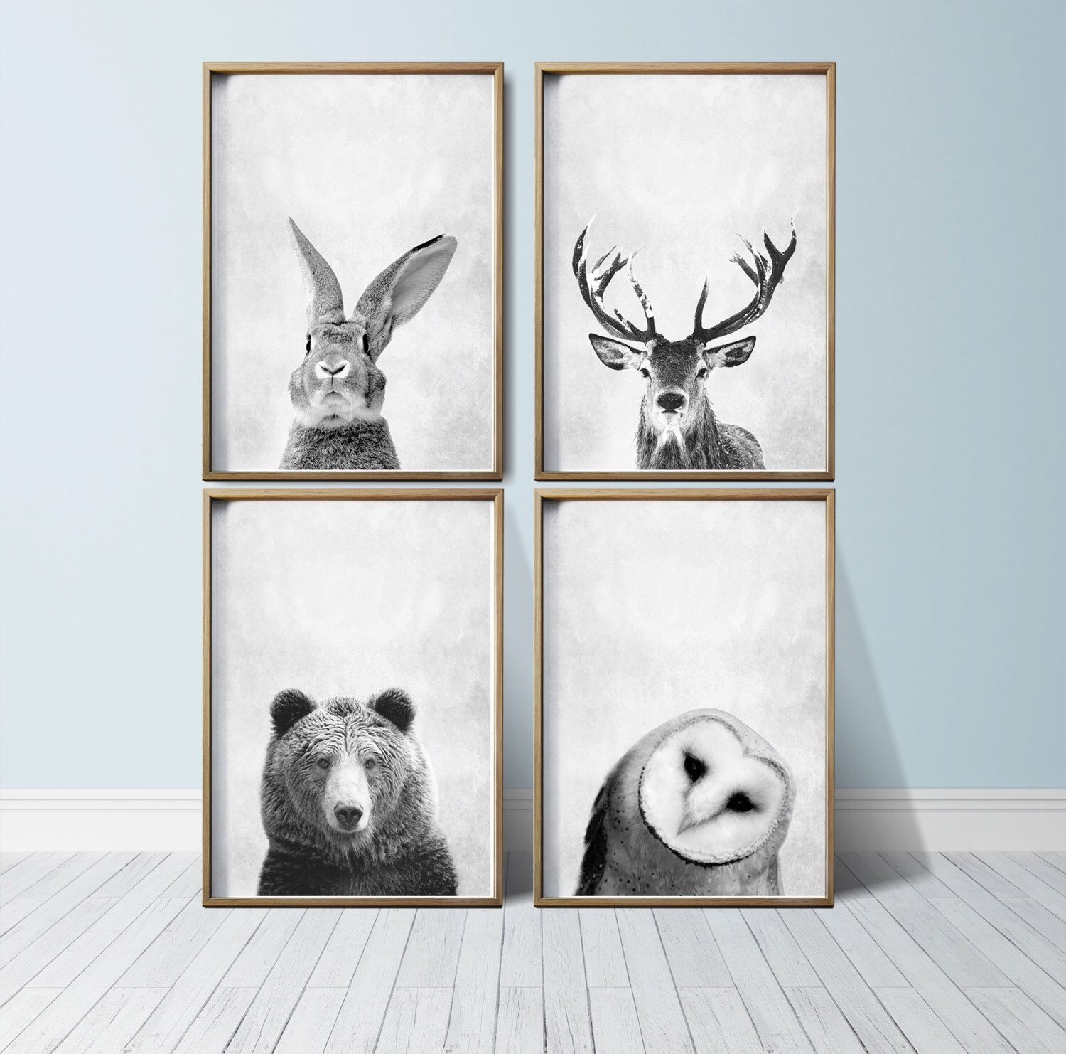 Animal Print Wall Art nursery wall art animal print art woodland nursery decor nursery