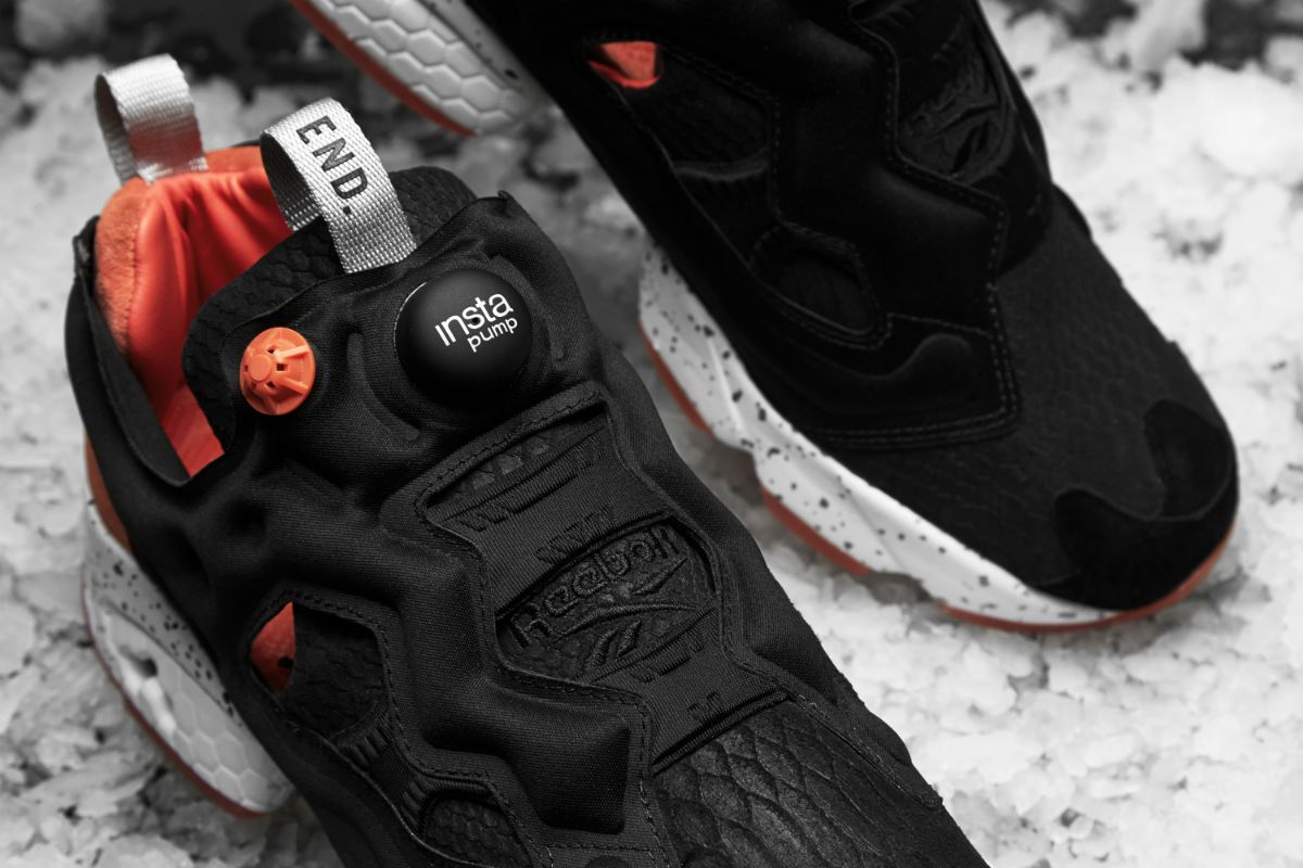 ec80cb77 END. X Reebok Instapump Fury 'Black Salmon' | Sneakers | Pinterest ...