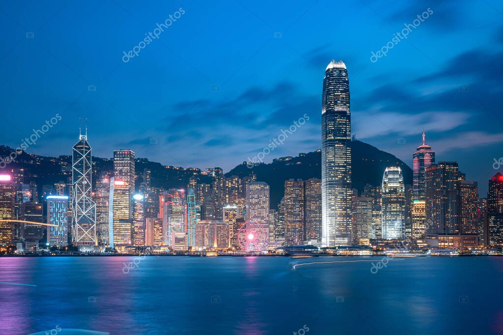 Cityscape And Skyline At Victoria Harbour In Hong Kong City At N Stock Ad Victoria Harbour Cityscape Skyline Ad In 2020 Victoria Harbour