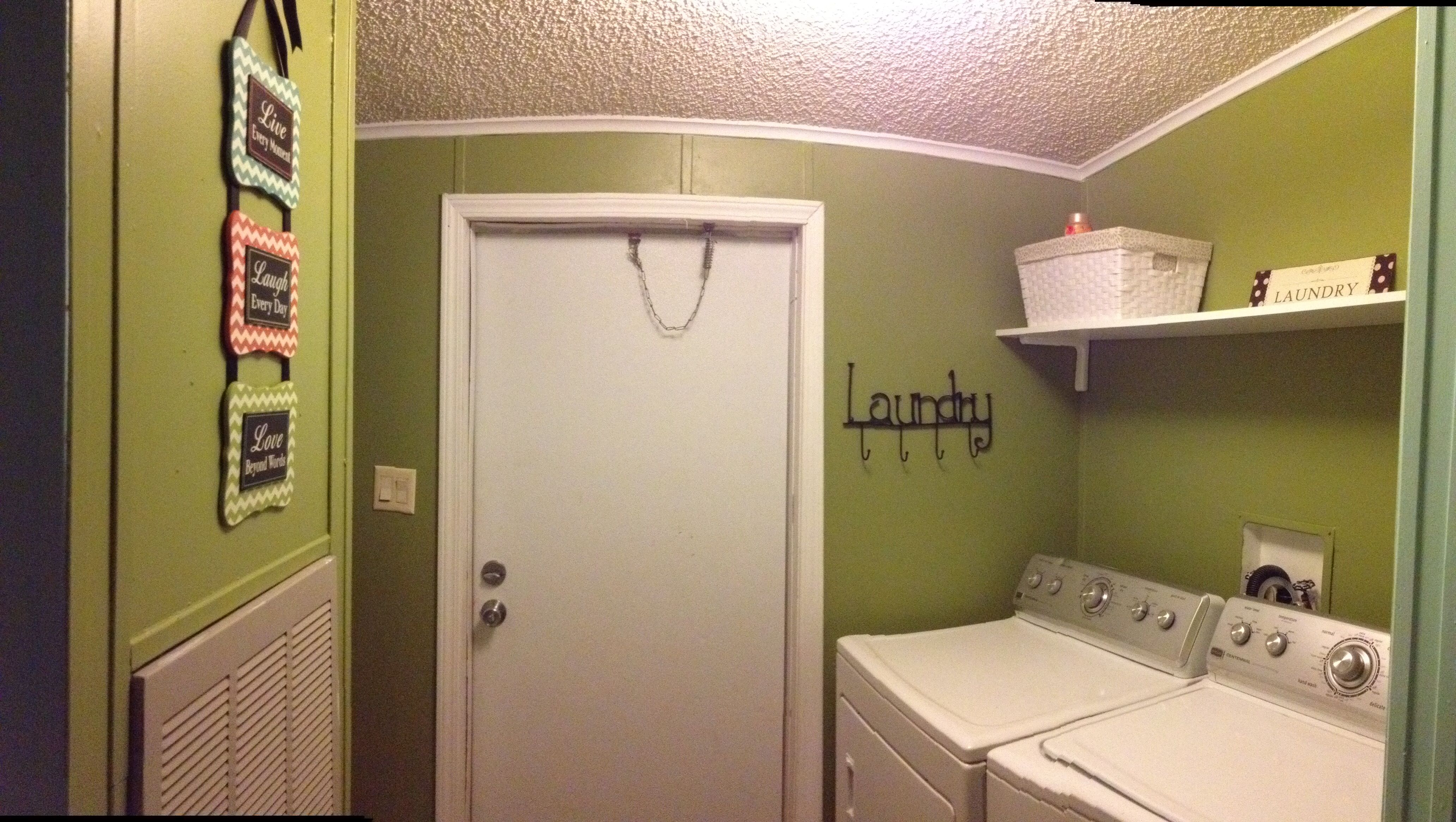 Olive Green Laundry Room