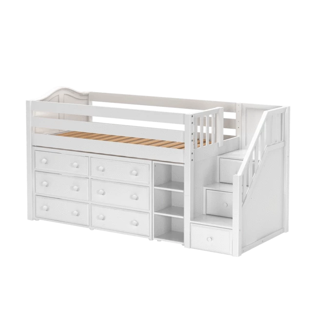 twin low loft bed with stairs storage low loft beds on innovative ideas for useful beds with storages how to declutter your bedroom id=61460
