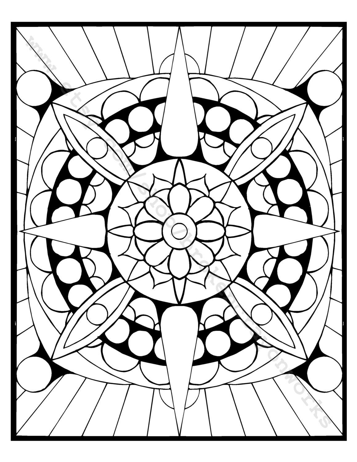 Coloring Page Alien Flower by BrokenCrayonWorks on Etsy | To Color ...