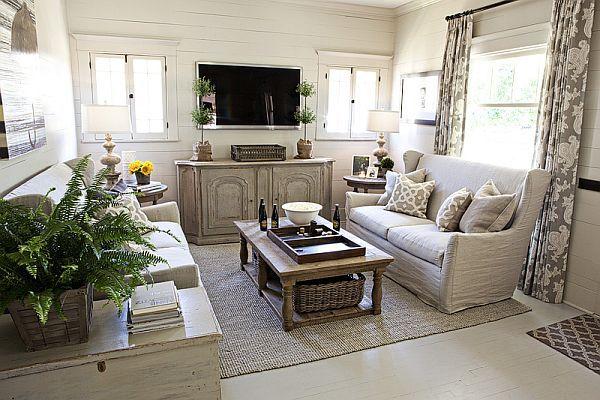 Kristin S Harmonious Interior Design Family Room Cottage Living Rooms Home