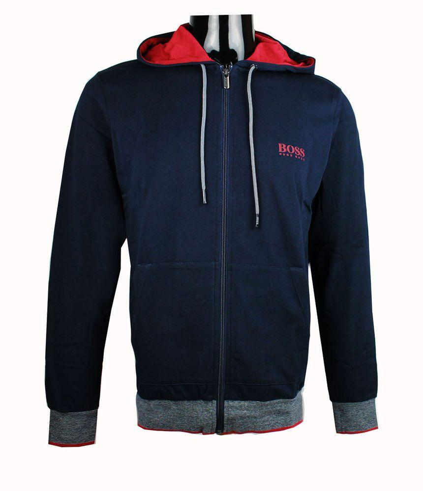 df4c799d08b Hugo Boss Men s Long Sleeve Hooded Jacket Sweatshirt S