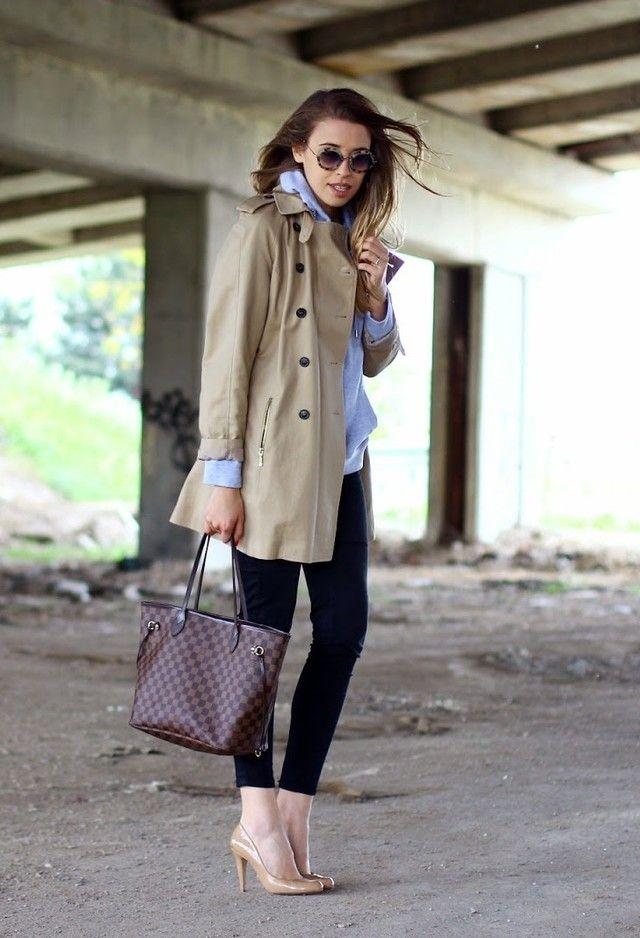 3a1b0420f54a Louis Vuitton Damier Ebene Canvas Neverfull Bags   I love Louis ...