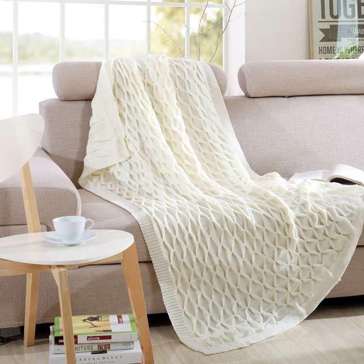 Barato cobertores cobertor de tric artesanal de luxo cobertura de sof cobertor na cama - Colchas para sofas baratas ...