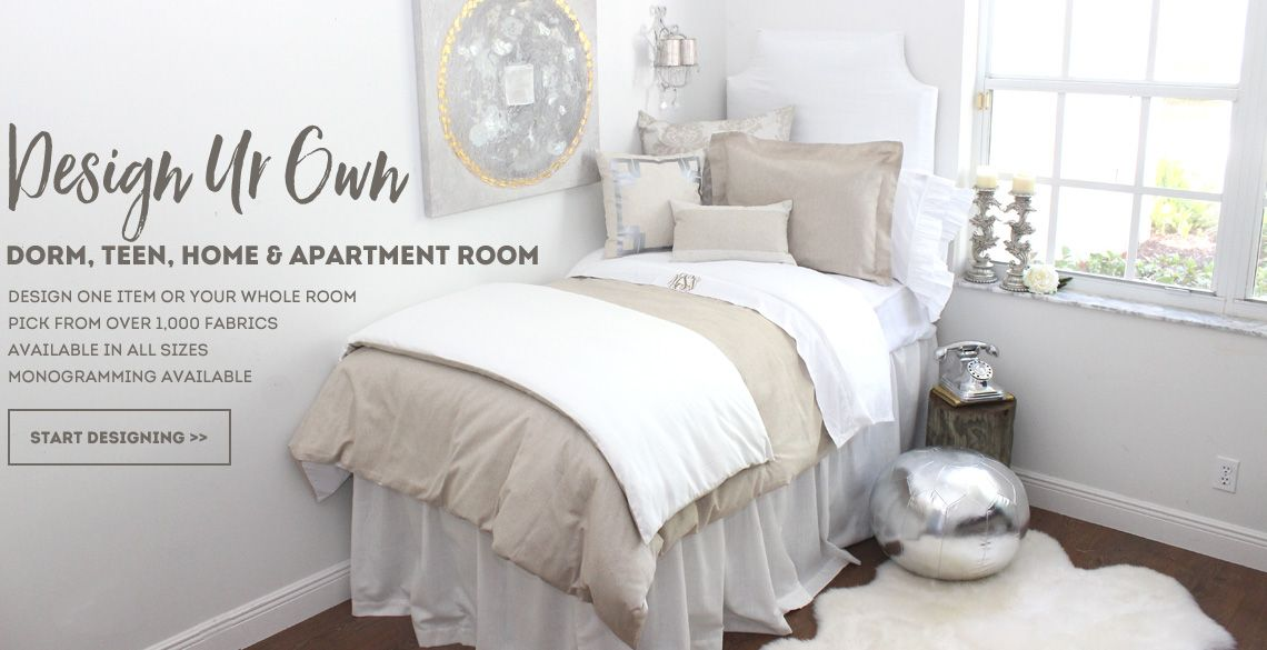 Neutral Restoration Look Design Your Own Dorm Room Bedding